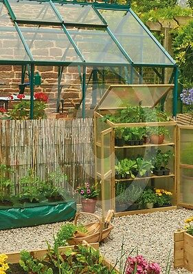 Gardman Wooden Growhouse Robust Solid Frame Extra Growing Space Garden Outdoors