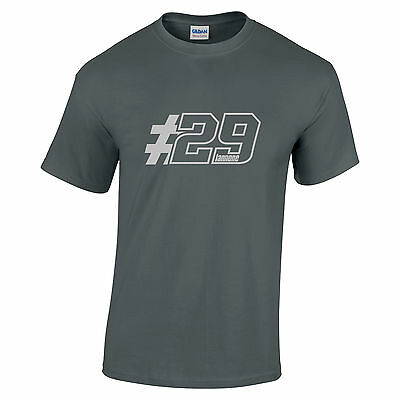 Andrea Iannone 29 Motogp Rider for Ducati Silver text mens ladies kids sizes