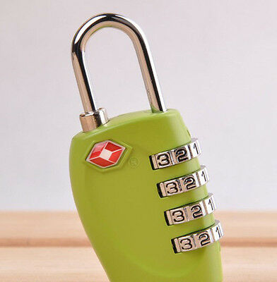 Green Security 4 Digit Travel Suitcase Luggage Bag Code Lock Padlock For TSA 330