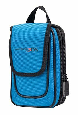 Official Nintendo 3DS Licensed Mini Transporter Console & Games Carry Case Blue