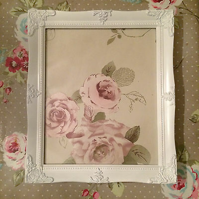 ORNATE VINTAGE ANTIQUE STYLE PICTURE FRAME 10 x 12 GOLD SILVER IVORY WHITE BLACK