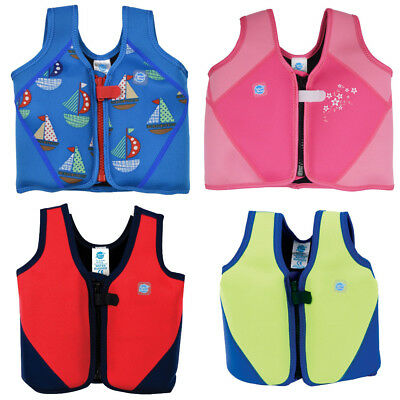 Splash About Kids Neoprene Float Jacket Adjustable Buoyancy 1-3 3-6 yrs