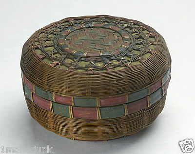 Betty-Lou Mukerji Collection ANTIQUE SMALL Chinese Sewing Basket USED FOR TEA