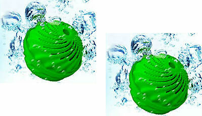 2 X Green/white/pink Laundry Balls No Washing Detergent Required Washing Clothes