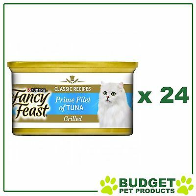 Fancy Feast Feline Cans Prime Filet of Tuna For Adult Cats 85g x 24
