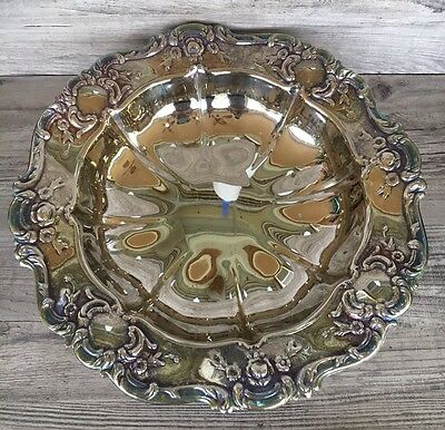 """Vintage Silver Plated Footed Bowl Looks Like Towle Old Master 11"""""""