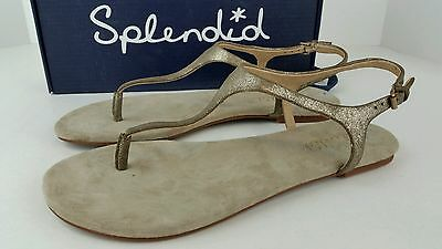2caba20e478 New W  Box Splendid Womens Size 9.5 M Mason Champagne T-Strap Sandals