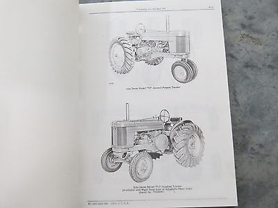 John Deere 70 Tractor Two Cylinder Parts Catalog 1966