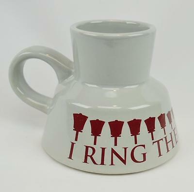 Vintage Handbell Choir Bells Hand Chimes Commuter Mug Grey Maroon No Skid Bottom