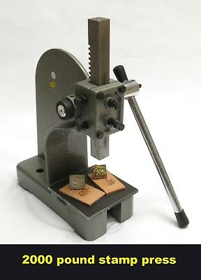 NEW!!!! Leather 2000 pound  stamp press and steel plate tool for Tandy 3-D craft