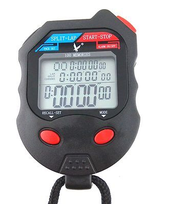 NEW LEAP 3 Row Display 100 split recallable Professional Stopwatch Timer Pacer