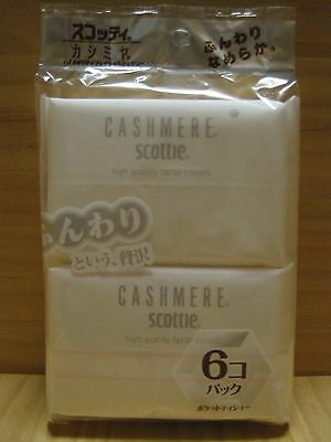 Scottie Cashmere Ultra Soft Facial Pocket Tissue Paper, 6 packs, Made in Japan