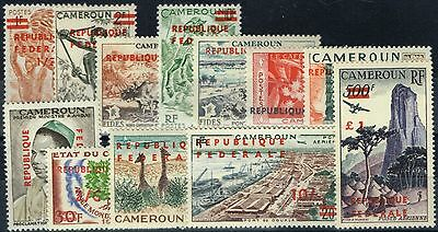 Cameroon 1961 set of 12 SG286-297a Fine MNH