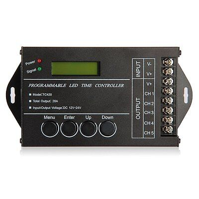 20A Programmable Timer Controller DC12-24V LED RGB/ Single-Color Streaks SY