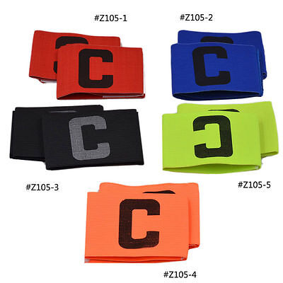 2 X Pure Colour Football Team Captain's Armband Symbol Sports Leader Multicolour