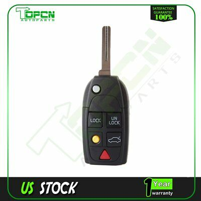 Remote Case Fob Flip Key Shell fit for VOLVO S60 S80 V70 XC70 XC90 5 Button