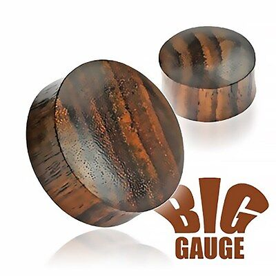 Holz Plug Ohr Flesh Tunnel Wood 3-50mm Ear Plug Sattle Fit Double Flared Organic