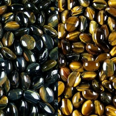 natural blue yellow tiger's eye jasper beads oval Cabochon CAB stone jewelry DIY