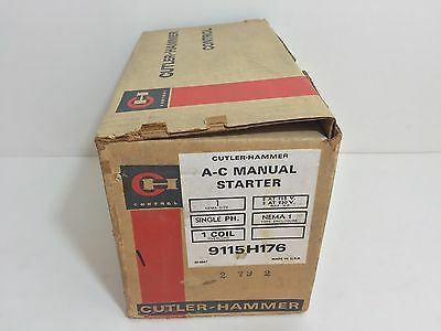 New! Cutler-Hammer Ac Manual Starter 9115H176