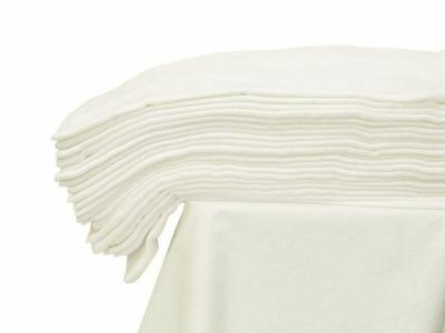 MUSLIN SQUARE 70X80 WHITE CLOTH BABY REUSABLE NAPPY WIPES BURP BIBS 100% Cotton