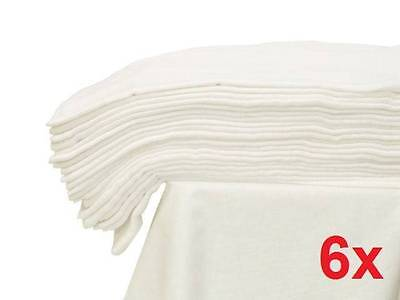 6x - LARGE MUSLIN SQUARE 70x80 WHITE CLOTH BABY REUSABLE NAPPY WIPES 100% Cotton
