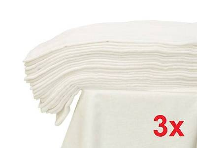 3x - LARGE MUSLIN SQUARE 70x80 WHITE CLOTH BABY REUSABLE NAPPY WIPES 100% Cotton