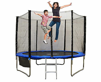 10FT Trampoline Safety Net Enclosure Ladder Rain Cover Shoe Bag For Kids Adult