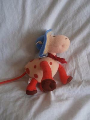 Authentic Label Magic Roundabout Ermintrude the Cow Soft Toy 15cm gUU