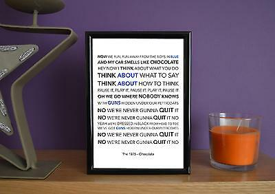Framed - The 1975 - Chocolate - Poster Art Print - 5x7 Inches