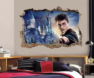 Harry Potter Smashed Wall Decal Removable Wall Sticker Art Mural Hogwarts H325