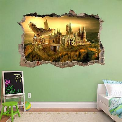 Hogwarts Harry Potter Smashed Wall Decal Removable Wall Sticker Art Mural H326