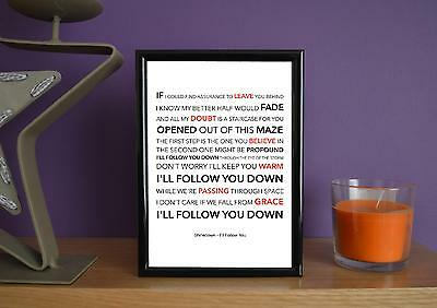 Framed - Shinedown - I'll Follow You - Poster Art Print - 5x7 Inches