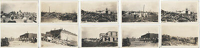 Set Of Ten Original 1920S Photos Of Post Hurricane Rebuilding W/ People   Cars
