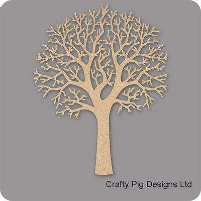 Natural Shape Tree 3mm MDF Laser Cut Wooden Craft Blank Wholesale Family Tree