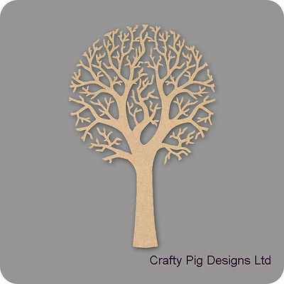Round Top Shape Tree 3mm MDF Laser Cut Wooden Craft Blank Wholesale Family Tree
