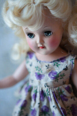 Trunk of Vintage 50's IDEAL P-90 Blonde Toni Doll 14 IN. Huge lot of clothes