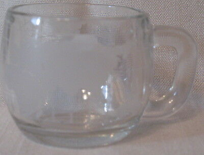 Nestle World Globe Etched Frosted Coffee Mug Cup Vintage Nescafe