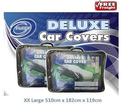 Car Cover Suits Extra Large Sedans to 5.10m Deluxe Water Repellant UV CCD-2XL