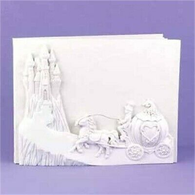NEW White Horse and Carriage Wedding Guest Book Once Upon a Time Cinderella