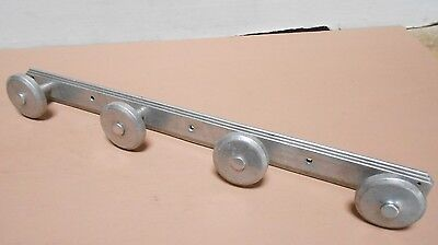 OLD French metal  LOFT INDUSTRIAL COAT Rack w/ 4  hooks pegs