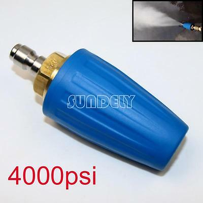 Washer Turbo Head Nozzle for High Pressure Water Cleaner 4000PSI Blue 1-Pcs