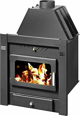 Insert Wood Burning Stove Inset Fireplace Built In Solid Fuel 10kw SAHARA