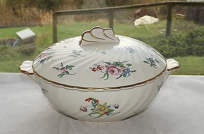 Clarice Cliff Newport Pottery Repro Olde Bristol Porcelain Floral Lidded Tureen