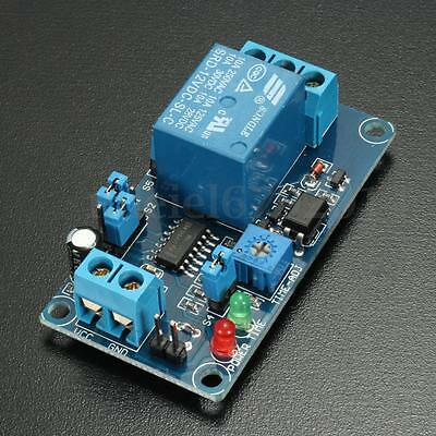 12V Adjustable Cycle Power-delay Relay Timer Delay Switch Circuit Module Board