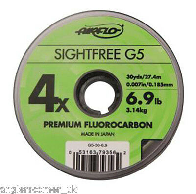 Airflo Sightfree G5 Fluorocarbon 110yds / Fly Fishing Leader