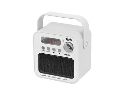 Trevi Portable FM Radio With Bluetooth and Handsfree in White  FREE UK DELIVERY