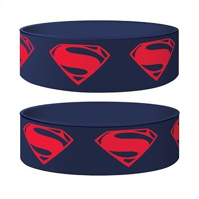 Superman Man Of Steel Glyph Rubber Wristband Top Quality 100% Official New