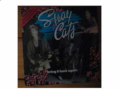 """Stray Cats * Bring It Back Again * 12""""  3 Track Ep * Emi Usa 12Mt62 Plays Superb"""