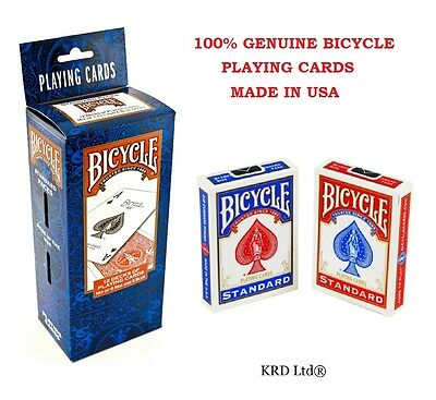 100% Genuine BICYCLE STANDARD Decks Of Playing Cards Pack Card Packs RED BLUE