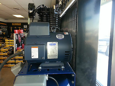 5Hp Leeson 131537 184T Compressor Motor 1740 Rpm 1 Phase Free Shipping!!